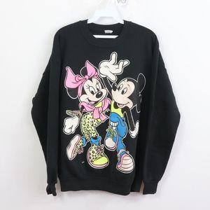Vtg 80s Disney Mens Large Mickey Minnie Sweatshirt